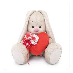 Мягкая игрушка Budi Basa Зайка Ми с красным сердечком, 23 см