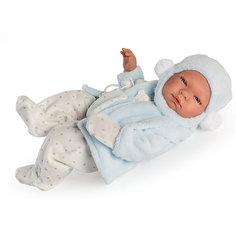 Кукла-реборн Asi Пабло в голубом, 43 см