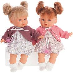Кукла Munecas Antonio Juan Монси в розовом, плачет, 30 см