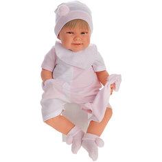 Кукла Munecas Antonio Juan Мартина в розовом, озвученная, 52 см