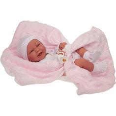 Кукла-младенец Munecas Antonio Juan Ирен в розовом, 42 см