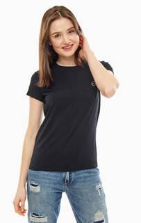 Черная хлопковая футболка Armani Exchange