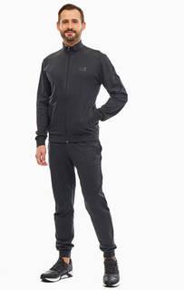 Черный спортивный костюм из хлопка EA7