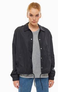 Куртка на кнопках с контрастным принтом на спине Cheap Monday