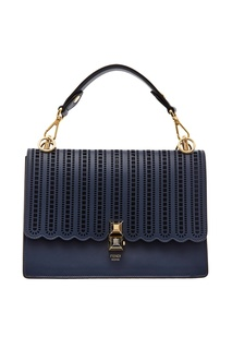 Темно-синяя мини-сумка Kan I Small Fendi