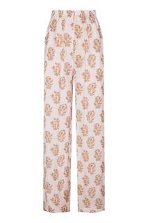 Свободные розовые брюки с принтом Acne Studios