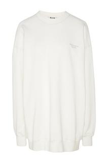 Белый свитшот-туника с логотипом Acne Studios