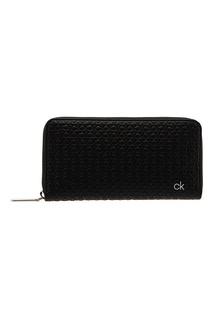 Черный кошелек с монограммами Calvin Klein