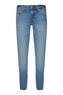 Голубые зауженные джинсы Calvin Klein