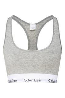 Серый спортивный топ Calvin Klein