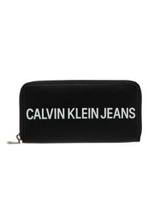 Черный кошелек с логотипом Calvin Klein