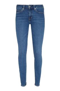 Голубые облегающие джинсы Calvin Klein