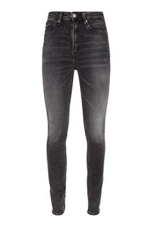 Черные джинсы с потертостями Calvin Klein