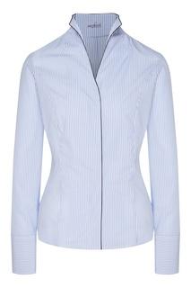 Голубая блузка в полоску Van Laack