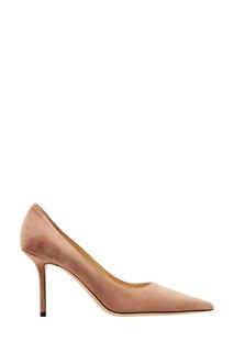 Нюдовые замшевые туфли Love 85 Jimmy Choo