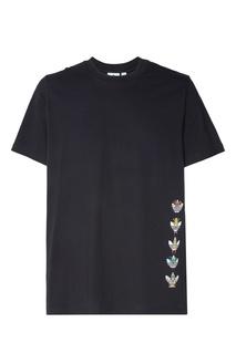 Черная футболка с принтом Tanaami Hero Adidas