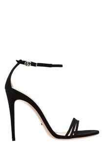 Черные босоножки из лакированной кожи Gucci