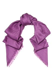 Фиолетовый платок с мотивом GG Gucci