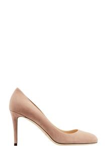 Пудровые замшевые туфли Bridget 85 Jimmy Choo