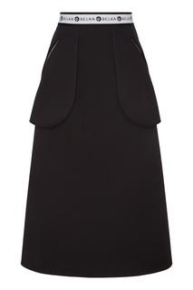 Юбка с накладными подвижными карманами Белка