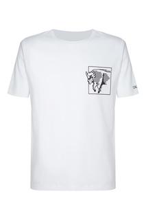 Белая футболка с контрастным принтом Calvin Klein