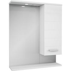 Зеркало-шкаф Меркана Таис 61 белый каннелюр (16286)