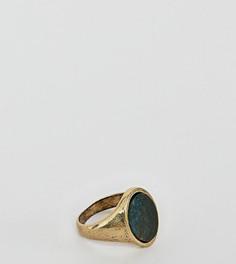 Кольцо-печатка с полудрагоценным камнем Reclaimed Vintage Inspired эксклюзивно для ASOS - Золотой