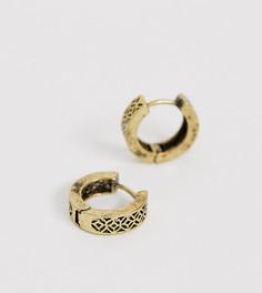 Серьги-кольца Reclaimed Vintage Inspired эксклюзивно для ASOS - Золотой