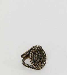 Золотистое кольцо со Святым Христофором Reclaimed Vintage - Золотой