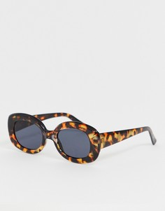 Овальные солнцезащитные очки в черепаховой оправе Jeepers Peepers - Коричневый