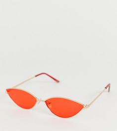 Солнцезащитные очки кошачий глаз в тонкой металлической оправе Aldo - Черный
