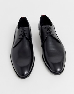 Черные кожаные туфли-дерби HUGO Appeal - Черный