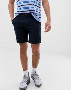 Темно-синие зауженные шорты чиносы New Look - Темно-синий