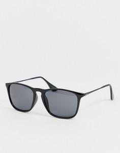 Квадратные солнцезащитные очки с зеркальными стеклами Jack & Jones - Черный