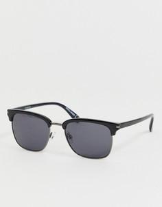 Черные солнцезащитные очки в стиле ретро Jack & Jones - Черный