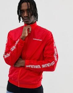 Красная спортивная куртка из нейлона с логотипом Calvin Klein Jeans - Красный