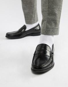 Черные блестящие лоферы Ben Sherman - Черный