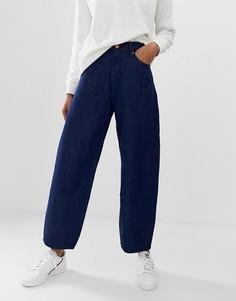 Широкие джинсы с отделкой по краю из органического хлопка Kings Of Indigo - Синий