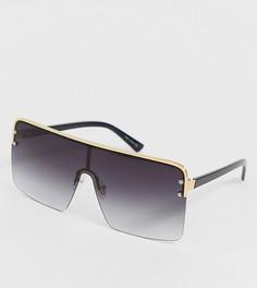 Черные большие квадратные солнцезащитные очки ALDO Zigosen - Черный