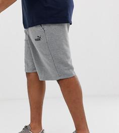 Серые шорты с логотипом Puma Plus Essentials - Серый