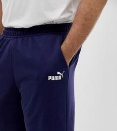 Темно-синие шорты с логотипом Puma Plus Essentials - Темно-синий
