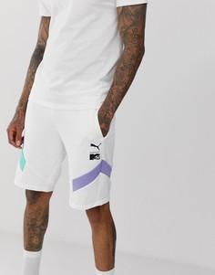 Белые шорты колор блок Puma x MTV - Белый