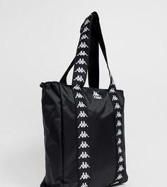 Черная сумка-тоут с логотипом Kappa Authentic Anim - Черный