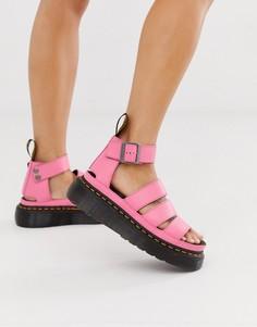 Ярко-розовые сандалии Dr Martens Clarissa II - Розовый
