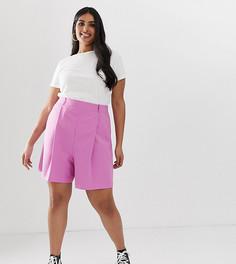 Розовые шорты в винтажном стиле ASOS DESIGN Curve - Розовый