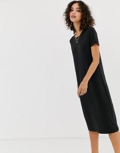 Трикотажное платье с короткими рукавами Vero Moda Aware - Черный