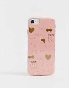 Чехол для iPhone 6/6s/7/8 Typo bodies - Мульти