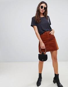 Вельветовая мини-юбка Blank NYC - Медный