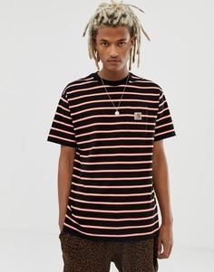 Черная футболка в полоску с карманом Carhartt WIP - Черный