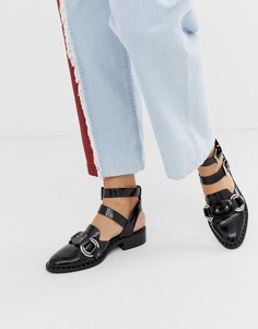 Туфли на плоской подошве с вырезами ASOS DESIGN - Черный